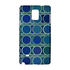 Circles Abstract Blue Pattern Samsung Galaxy Note 4 Hardshell Case by Nexatart