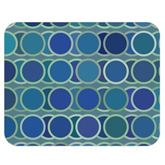 Circles Abstract Blue Pattern Double Sided Flano Blanket (medium)