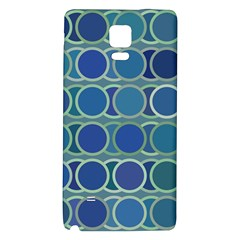 Circles Abstract Blue Pattern Galaxy Note 4 Back Case