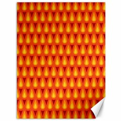 Simple Minimal Flame Background Canvas 36  X 48   by Nexatart