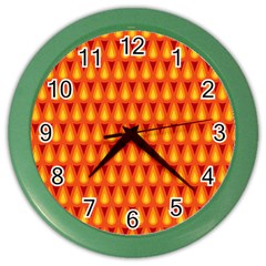 Simple Minimal Flame Background Color Wall Clocks by Nexatart