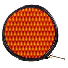 Simple Minimal Flame Background Mini Makeup Bags