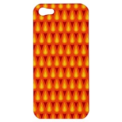 Simple Minimal Flame Background Apple Iphone 5 Hardshell Case