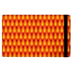 Simple Minimal Flame Background Apple Ipad 2 Flip Case