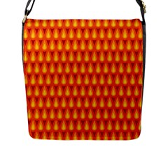 Simple Minimal Flame Background Flap Messenger Bag (l)
