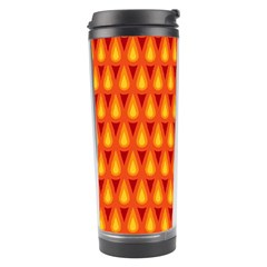 Simple Minimal Flame Background Travel Tumbler by Nexatart