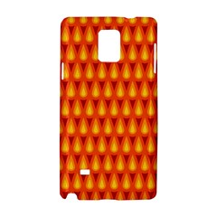 Simple Minimal Flame Background Samsung Galaxy Note 4 Hardshell Case by Nexatart