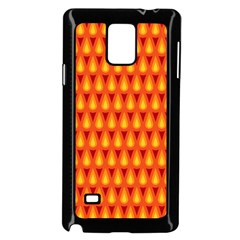 Simple Minimal Flame Background Samsung Galaxy Note 4 Case (black) by Nexatart