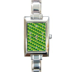 Dragon Scale Scales Pattern Rectangle Italian Charm Watch by Nexatart