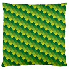 Dragon Scale Scales Pattern Large Cushion Case (two Sides) by Nexatart