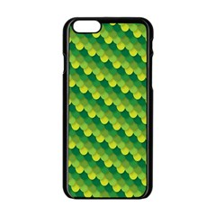 Dragon Scale Scales Pattern Apple Iphone 6/6s Black Enamel Case by Nexatart