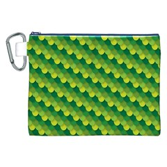 Dragon Scale Scales Pattern Canvas Cosmetic Bag (xxl) by Nexatart