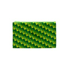 Dragon Scale Scales Pattern Cosmetic Bag (xs) by Nexatart