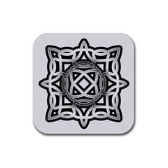 Celtic Draw Drawing Hand Draw Rubber Coaster (square)  by Nexatart