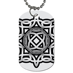 Celtic Draw Drawing Hand Draw Dog Tag (one Side)