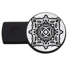 Celtic Draw Drawing Hand Draw Usb Flash Drive Round (2 Gb) by Nexatart