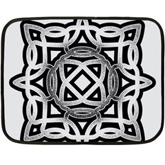 Celtic Draw Drawing Hand Draw Double Sided Fleece Blanket (mini)