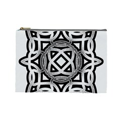 Celtic Draw Drawing Hand Draw Cosmetic Bag (large)