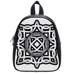 Celtic Draw Drawing Hand Draw School Bags (small)