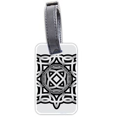 Celtic Draw Drawing Hand Draw Luggage Tags (two Sides) by Nexatart
