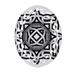 Celtic Draw Drawing Hand Draw Oval Filigree Ornament (two Sides) by Nexatart