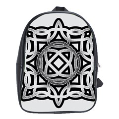 Celtic Draw Drawing Hand Draw School Bags (xl)