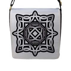 Celtic Draw Drawing Hand Draw Flap Messenger Bag (L)  by Nexatart