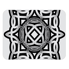 Celtic Draw Drawing Hand Draw Double Sided Flano Blanket (large)