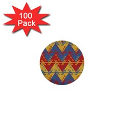 Aztec Traditional Ethnic Pattern 1  Mini Buttons (100 Pack)
