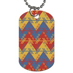 Aztec Traditional Ethnic Pattern Dog Tag (two Sides) by Nexatart