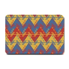 Aztec Traditional Ethnic Pattern Small Doormat  by Nexatart