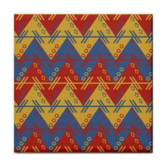 Aztec Traditional Ethnic Pattern Face Towel