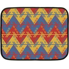 Aztec Traditional Ethnic Pattern Fleece Blanket (mini) by Nexatart