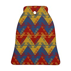 Aztec Traditional Ethnic Pattern Bell Ornament (two Sides) by Nexatart