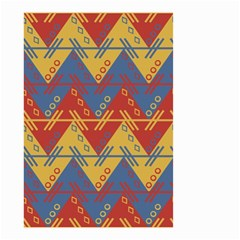 Aztec Traditional Ethnic Pattern Small Garden Flag (two Sides) by Nexatart