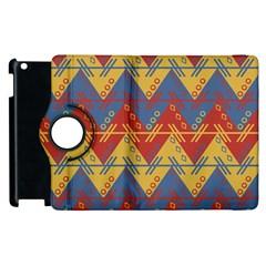 Aztec Traditional Ethnic Pattern Apple Ipad 3/4 Flip 360 Case by Nexatart
