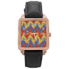 Aztec Traditional Ethnic Pattern Rose Gold Leather Watch  by Nexatart