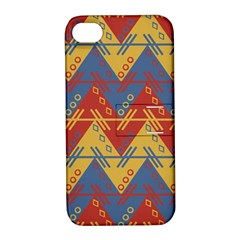 Aztec Traditional Ethnic Pattern Apple Iphone 4/4s Hardshell Case With Stand