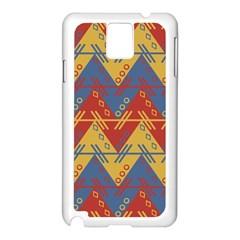Aztec Traditional Ethnic Pattern Samsung Galaxy Note 3 N9005 Case (white) by Nexatart