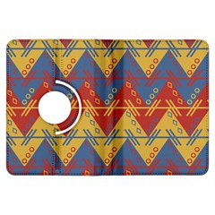 Aztec Traditional Ethnic Pattern Kindle Fire Hdx Flip 360 Case by Nexatart