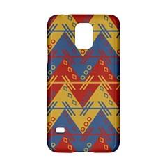 Aztec Traditional Ethnic Pattern Samsung Galaxy S5 Hardshell Case  by Nexatart