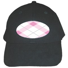 Tablecloth Stripes Diamonds Pink Black Cap by Nexatart