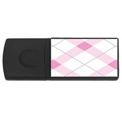 Tablecloth Stripes Diamonds Pink Usb Flash Drive Rectangular (4 Gb)