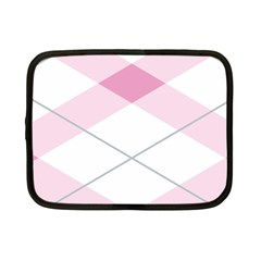 Tablecloth Stripes Diamonds Pink Netbook Case (small)  by Nexatart