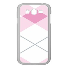 Tablecloth Stripes Diamonds Pink Samsung Galaxy Grand Duos I9082 Case (white)