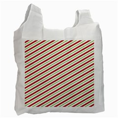 Stripes Striped Design Pattern Recycle Bag (one Side) by Nexatart