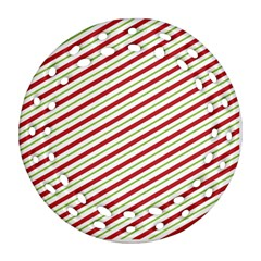 Stripes Striped Design Pattern Ornament (round Filigree) by Nexatart