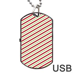 Stripes Striped Design Pattern Dog Tag Usb Flash (two Sides) by Nexatart
