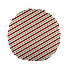 Stripes Striped Design Pattern Standard 15  Premium Round Cushions