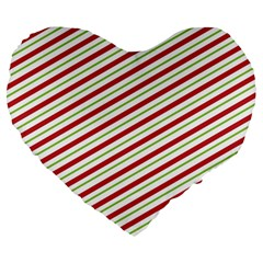 Stripes Striped Design Pattern Large 19  Premium Heart Shape Cushions by Nexatart
